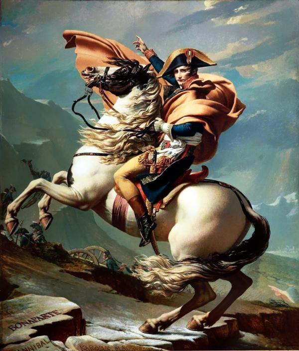 ベルナール峠からアルプスを越えるボナパルト:ジャック=ルイ・ダヴィッドの壁紙/画像素材