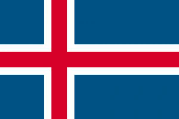 アイスランドの国旗02の壁紙/画像素材