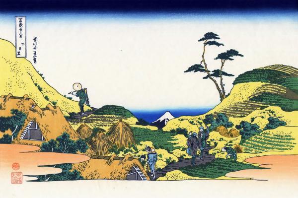 下目黒(しもめぐろ)-富嶽三十六景:葛飾北斎の壁紙/画像素材