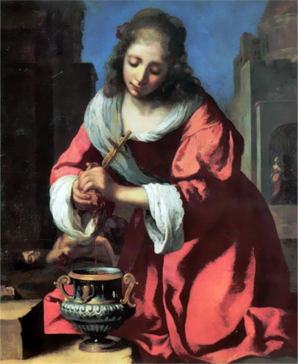 聖プラクセディス:ヨハネス・フェルメールの壁紙/画像素材