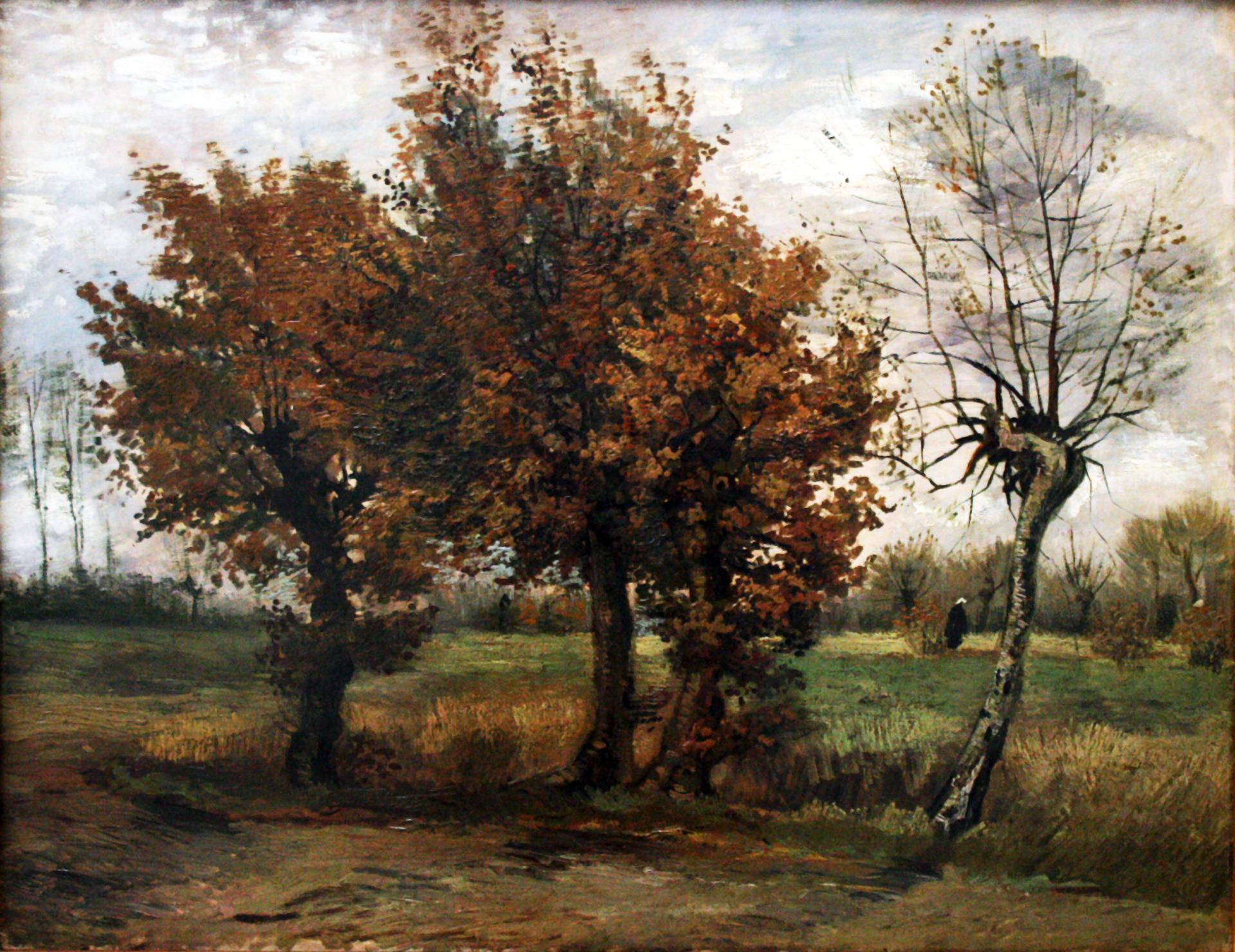 4本の木のある秋の風景 Autumn Landscape With Four Trees フィン