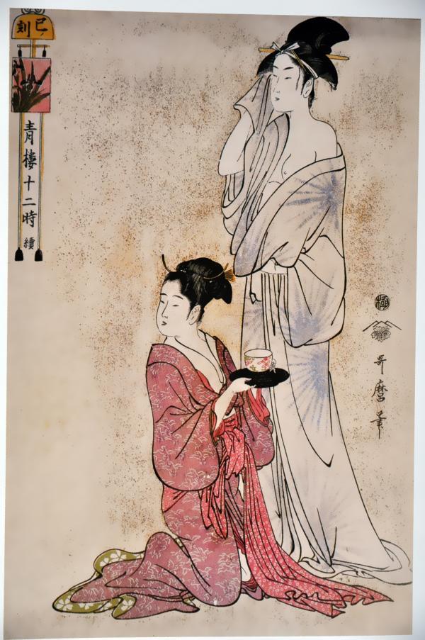 青楼十二時 続 巳ノ刻(Hour of the Snake):喜多川歌麿の壁紙/画像素材